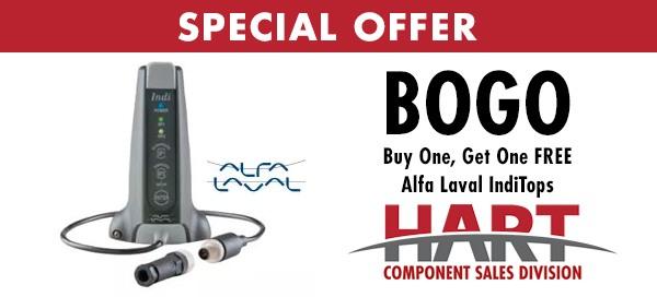 HART BOGO offer for Alfa Laval IndiTops.